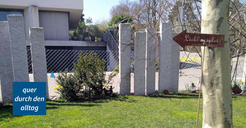 Gespräch Garten Gartenzaun